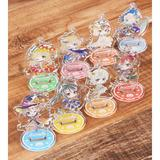 High School Fleet the Movie: Trading Deformed Ani-Art Halloween Ver. Acrylic Stand Keychain 1 Box 8pcs