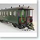 G-Gauge Passenger Car Green (for AMC51041 Europe SL engine)