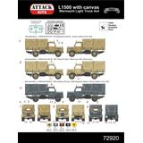 1/72 M.B. L1500 Wehrmacht Light Truck 4x4, with Canvas Top
