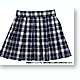 Pleated School Skirt Navy Plaid (Pure Neemo S)