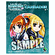 Nanoha The Movie 2nd A's Can Badge (Nanoha & Fate Barrier Jacket)