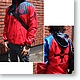 Ace Hooded Windbreaker Navy x Red L