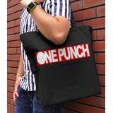 One-Punch Man: One Punch Logo Large Tote Bag: Black