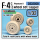 1/32 F-4C/D Phantom II Wheel Set for Tamiya