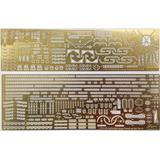 1/700 IJN Battleship Hyuga 1941 Photo-Etched Parts (w/Ship Name Plate)