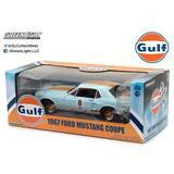 1/18 Gulf Oil 1967 Ford Mustang Coupe Gulf Oil #8, Light Blue w/Orange Stripes