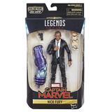 Marvel - Hasbro Action Figure: 6 Inch: Legends - Captain Marvel Series 1.0: #03 Nick Fury (Movie Version)