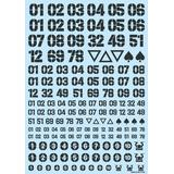 DZ Number Decal Dark Gray (1pcs)