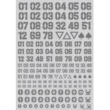 DZ Number Decal Gray (1pcs)