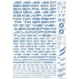 TR Decal 3 Alphabet Blue (1pcs)