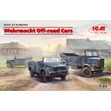 1/35 Wehrmacht Off-road Cars (Kfz.1, Horch 108 Typ 40, L1500A) Diorama Set