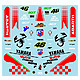 1/12 Yamaha YZR-M1 2007 Decals Abarth Rossi