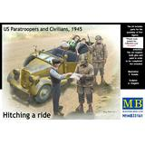 1/35 Hitching a ride, US Paratroopers and Civilians (Limited Edition) without Type 170 VK Convertible