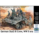 1/35 German StuG III Crew. WW II era. Their position is behind that forest!