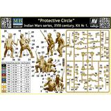 1/35 Protective Circle. Indian Wars Series, XVIII Century. Kit No.1