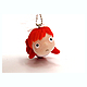 Ponyo Flocked Key Chain