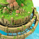 Miniatuart Kit Studio Ghibli Series Castle in the Sky: Laputa Castle