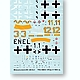 1/72 Messerschmitt Bf109G-2 Decals w/Canopy Mask