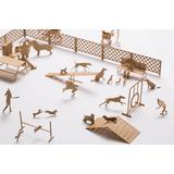 1/100 Architectural Model Accessories Series Set No.67 Dog Run Ed. Light Brown