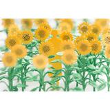 1/100 Architectural Model Accessories Series Set No.68 Sunflower Ed. Yellow x Green