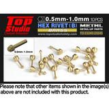 0.8mm Hex Rivets (B) Brass