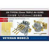 1/350 IJN Type 96 25mm Triple AA Guns