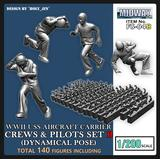 1/200 Battle of Midway USS Carrier Crews Set B (Dynamical Pose)