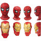 Spider-Man: Homecoming Real Mask Magnet Collection - set of 2