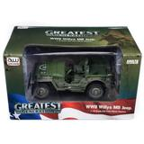 1/18 1941 Jeep Willys in Muddy Olive Drab Camo Auto World Military Series