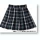 Pleated School Skirt Green Plaid (Pure Neemo S)