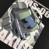Mobile Suit Gundam: Full Color T-Shirt MS-06 Zaku II M Size