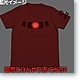 Char Zaku Mono-Eye Luminous T-Shirt Red XL