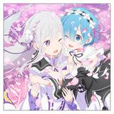 Re:Zero - Starting Life in Another World: Emilia & Rem Cushion Cover