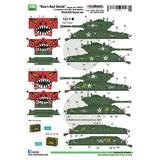 1/35 Korean War US M4A3E8 Rice's Red Devils Decal Set M4A3E8