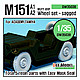 1/35 U.S M151 Jeep Sagged Wheel Set (Tamiya/Academy)