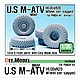1/35 U.S. M-ATV MRAP 16.00xR20 Sagged Wheel Set (for Panda PH35001)