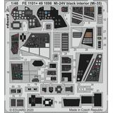 1/48 Mi-24 Interior Black (Mi-35) Photo-Etched Parts (for Zvezda)