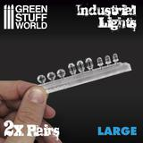 18x Resin Industrial Lights Large