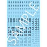 Hobby Japan Modeler's Decal Numbering 02 (Dark Gray)