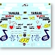 1/12 Yamaha YZR-M1 Fiat 500 Version Decals
