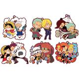 Rubber Mascot Buddy Colle One Piece Log.1: 1 Box (6pcs)