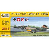 1/144 F-104F/CF-104D/TF-104G Mach 2 Trainer (2in1)