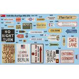 1/35 Allied Road Signs WWII. European Theatre of Operations