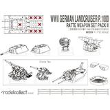 1/72 WWII Germany Landcruiser p.1000 Ratte Weapon Set Pack II
