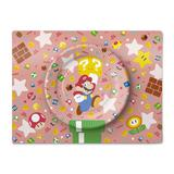Super Mario Home & Party Paper Plate Set (Character & Item)