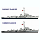 1/700 USN Escort Destroyer Cannon & Buckley-class (3 pcs)