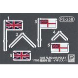 1/700 Royal Navy Battleship HMS Queen Elizabeth 1941 with Flag & Ship Name Plate Photo-Etched Parts