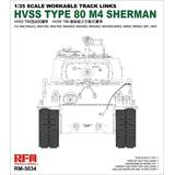 1/35 HVSS T80 M4 Sherman Workable Track Links