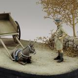 1/35 Donkey Sat Down with British WWII Soldier