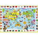 Disney Child Puzzle: Mickey Mouse and Let's Play in the World Map! 60pcs (26cm x 37.5cm)